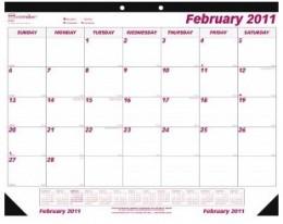 The classic desk blotter calendar.