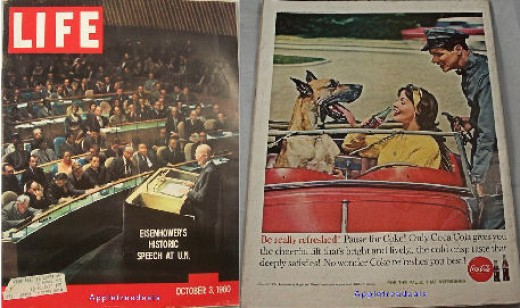 Old Vintage LIFE Magazine - October 3, 1960 - Eisenhower and the U.N. Voting Issue