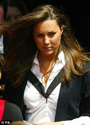 Kate Middleton on her graduation day