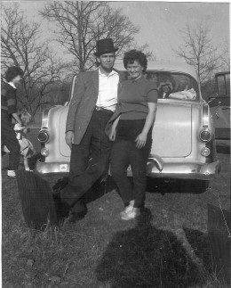 My parents, dad made it home and did live the American dream. A good wife, good job, and family. Photo 1963. His Abe Lincoln look!