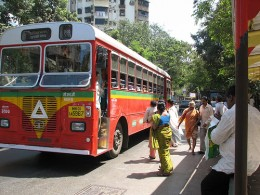 Mumbai Bus, by Akshay