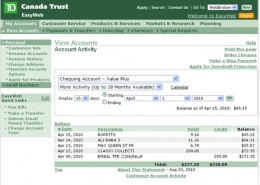 My Toronto Dominion Td Canada Trust Bank Internet Banking Review Easyweb Easyline Hubpages