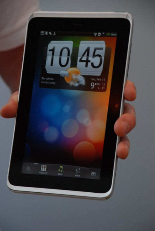 HTC Flyer (home screen)