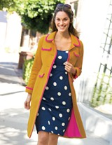 Tipped Sixties Coat $168