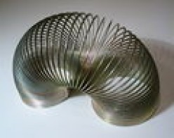 Slinky Toys based On Physics Principles:Gravity and Inertia and spiral