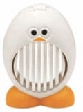Helping kids to eat eggs with this funny slicer.