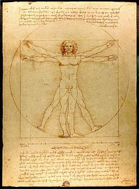 Da Vinci's depiction of man