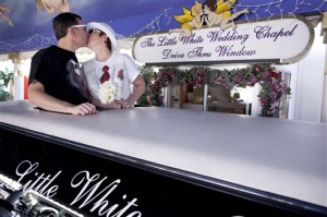 Las Vegas weddings on Valentine's Day are a very common event.