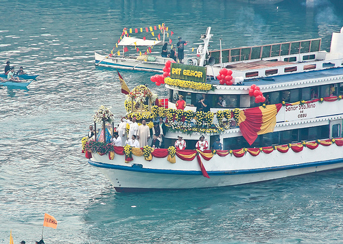 The fluvial procession is probably the most elaborate event during the Sinulog Festival in Cebu.