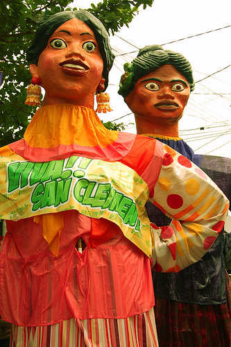 Higantes Festival in Angono, Rizal: By no means adorable, but one can tell that great care was put into making these hulking figures.