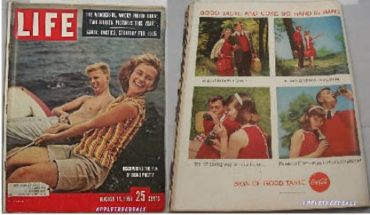 Old Vintage August 11, 1958 LIFE magazines - Haiti - Southern Integration - Faubus - American youth and vintage ads