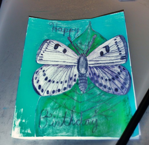 I finally completed coloring the illustration of my butterfly for the birthday card.