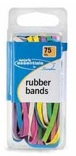 A rainbow of rubber bands.