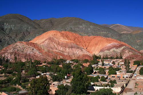 Argentina: Sight of the Cerro de los Siete Colores and Purmamarca