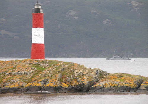 Sights in Argentina: lighthouse near Ushuaia