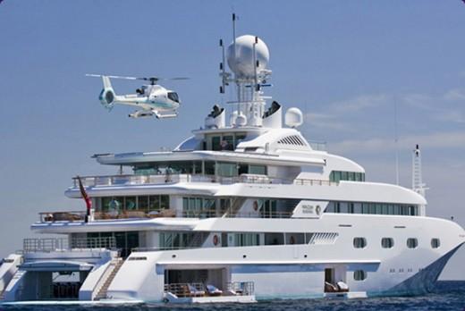 Luxury: The prestine yacht gleams in the sun