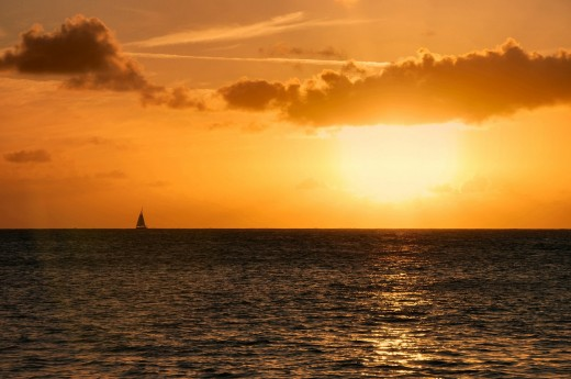 Beautiful: Sail into the sunset for a happpy loving and enjoyable life