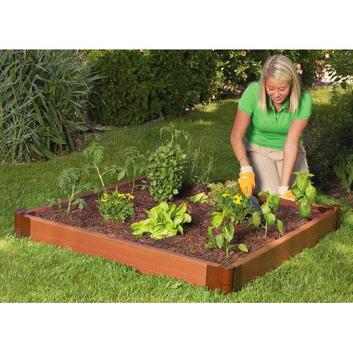 Get started on your square foot garden with this 4' X 4' raised bed Garden from Amazon today!