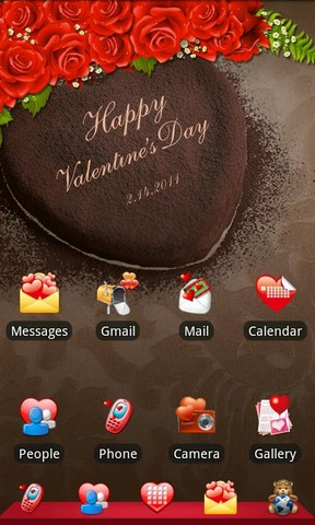 Go Launcher Ex Valentine's Day Theme