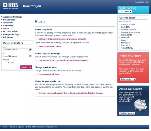 RBS Account Alerts
