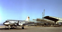 An Illushin Il-14 of 'Interflug', and building work at Berlin-Schoenefeld in 1961