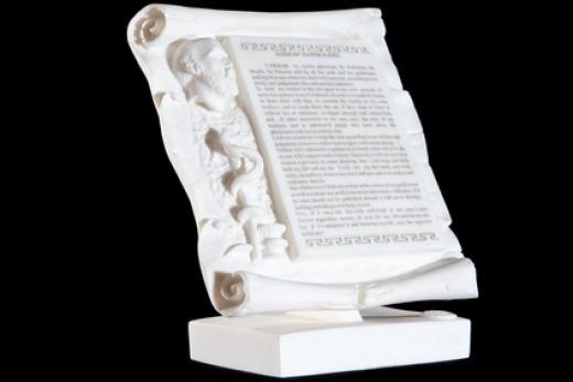 Hippocratic Oath on white marble. Image:  Mrakor - Fotolia.com
