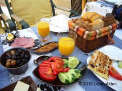 A full Turkish breakfast inclusive of our cave hotel accommodation in Cappadocia, Turkey.