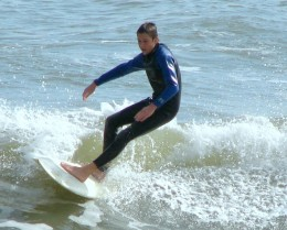 Mustang Island Surfer