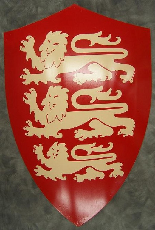Three Lions- Richard's symbol now associated with the English Football Team
