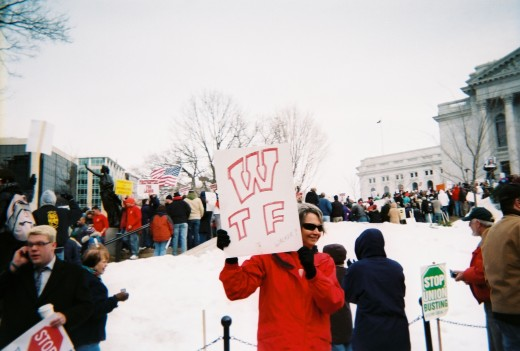 WTF = Wisconsin Teachers' Federation, but also What The F___?
