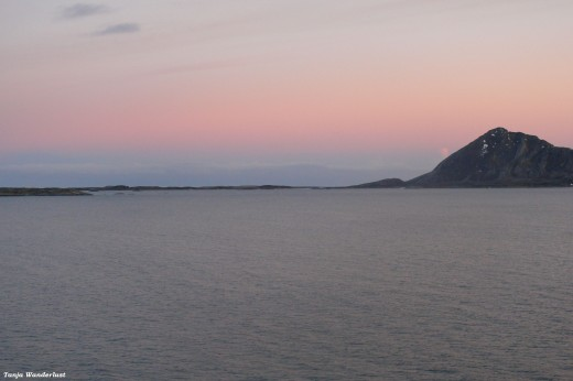 View from the Hurtigruten Boat