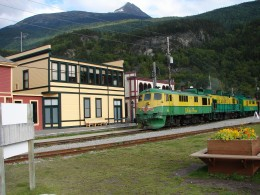 The White Pass railway in Skagway Alaska.