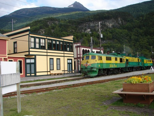 The White Pass railway in Skagway Alaska.