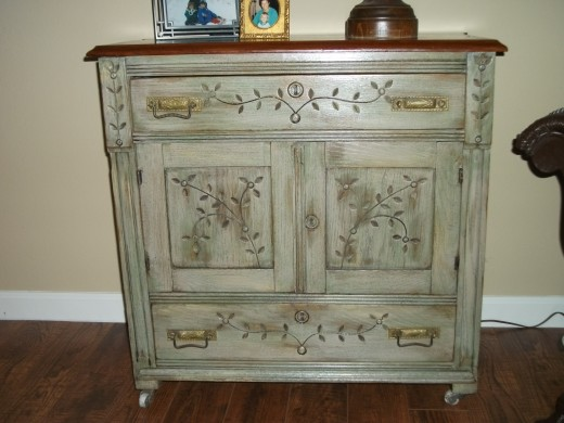 Paint and Stain with Distressed Look