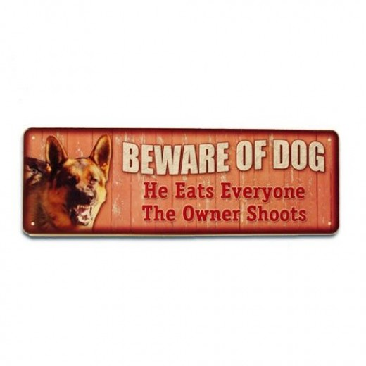 Beware of Dog Sign from Amazon!