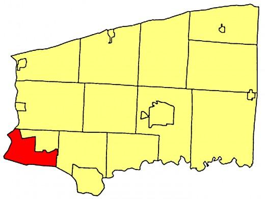 Map location of Niagara Falls, New York