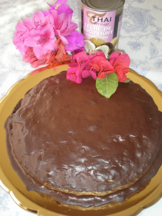 Flourless Chocolate Cake made with sweet potato