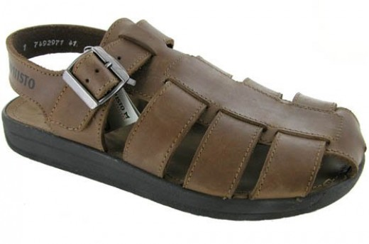 Mephisto Uberto Brown Leather Sandals Shoes