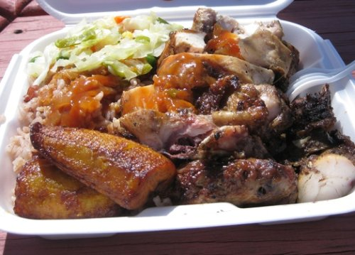 Jerk Chicken from Rankin's Jerk Center, Bodden Town, Grand Cayman