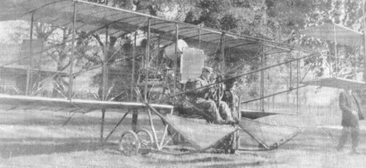Frank Wiseman and his aircraft in Cloverdale, Feb. 1911, a few weeks after the first ever airmail delivery service!