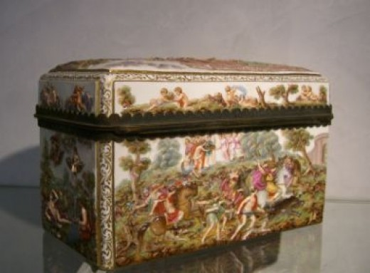 Meissen German Porcelain Trinket and Jewelry Boxes