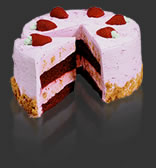 Picking up this Strawberry Passion Cake made us 15 mins. late to dinner, but it was delicious!