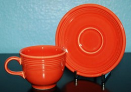Persimmon cup and saucer