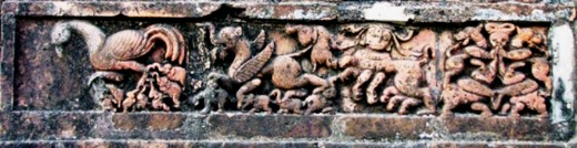 Strange animals.Panel by Aalam ,used in Jor-Bangla Temple