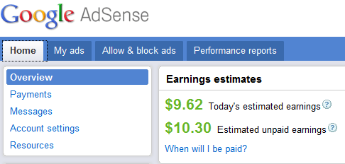 Today  I was pleasantly surprised to find my earnings a cool $10.30