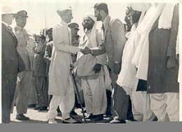 Nawab akbar Bugti with Quaid-e-Azam