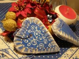 Hearts made with salt mass
