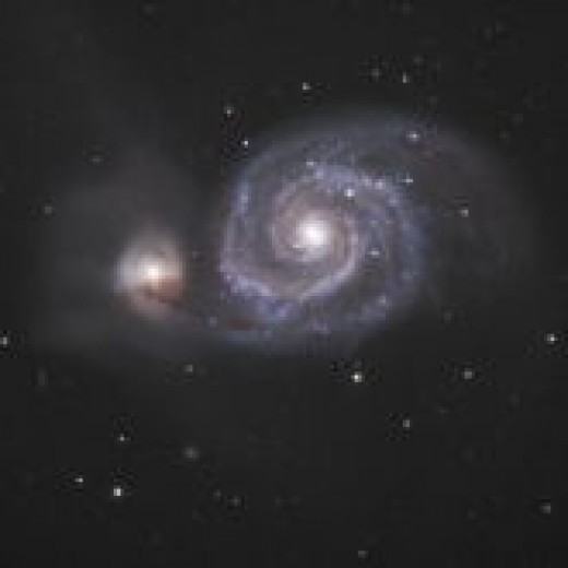 M51 better known as the famous whirlpool galaxy is a deep sky object that can be found in the constellation Ursa Major or The Great Bear