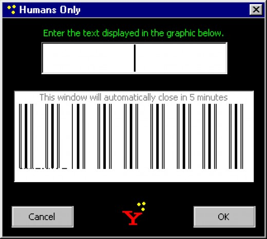 Captcha to tell humans and robots apart? This one seems to prefer the latter.