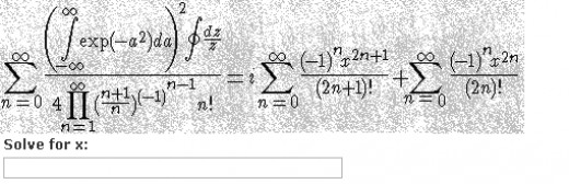 Another one for those who like to spend a week logging in. A math captcha.
